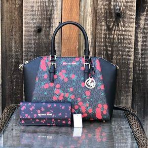 2pcs NWT Michael Kors LG Ciara handbag&wallet